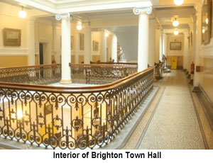 Brighton Town Hall interior