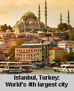 Istanbul - world's 4th largest city