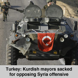 Kurdish mayors sacked